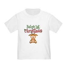 1st Christmas Baby Reindeer T