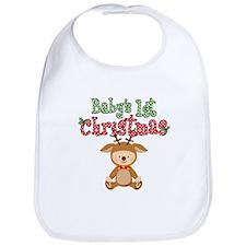 1st Christmas Baby Reindeer Bib