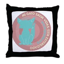 pgato redondo2 Throw Pillow