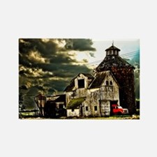 Stormy Old Barn and Silo Rectangle Magnet