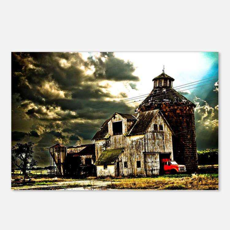 Stormy Old Barn and Silo Postcards (Package of 8)