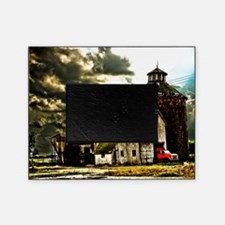 Stormy Old Barn and Silo Picture Frame