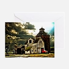 Stormy Old Barn and Silo Greeting Card