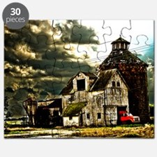Stormy Old Barn and Silo Puzzle
