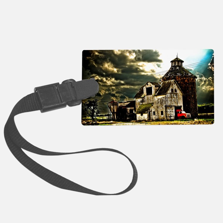 Stormy Old Barn and Silo Luggage Tag