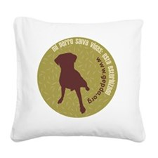 pperro redondo Square Canvas Pillow