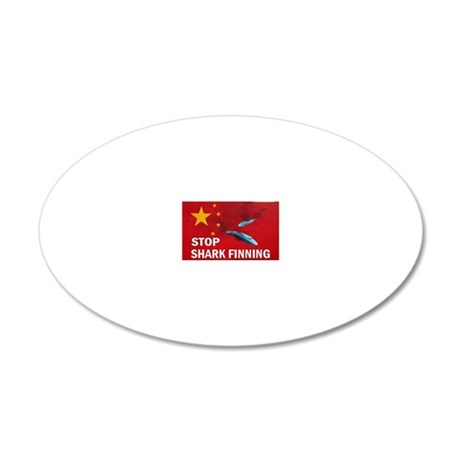 shark-finning-cards 20x12 Oval Wall Decal