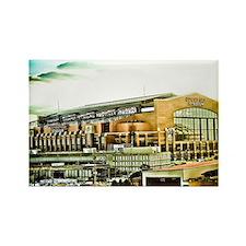 Lucas Oil Stadium Indianapolis In Rectangle Magnet