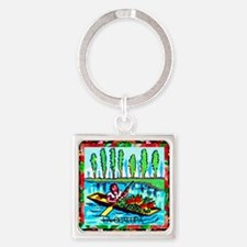 2-lachalupa16by20poster Square Keychain