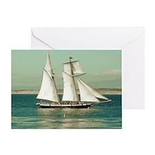 Pirate Ship Monterey California Greeting Card