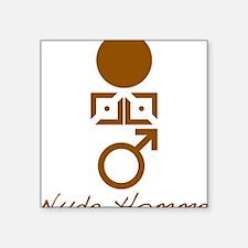 """Symbol_Brwn_Hom_Nude_VbtmT Square Sticker 3"""" x 3"""""""