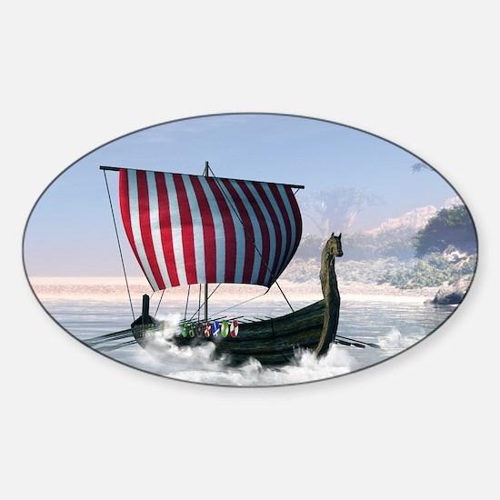 Wonderful longboat, vikking ship Decal