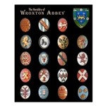The Heraldry of Wroxton Abbey. Small Poster