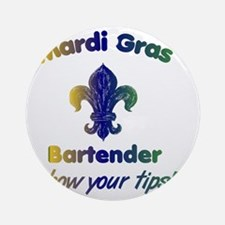 mardi-gras-show-your-tips Round Ornament