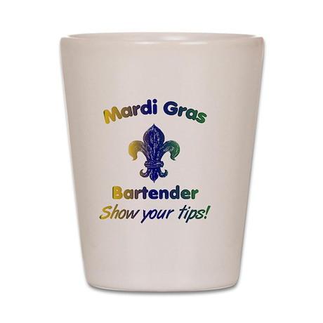 mardi-gras-show-your-tips Shot Glass