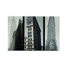 3 New York buildings Rectangle Magnet