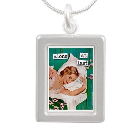 Alone At Last Silver Portrait Necklace