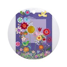Flowers Ornament (Round)