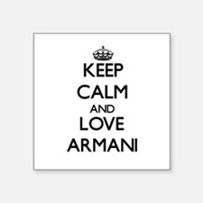 Keep Calm and Love Armani Sticker