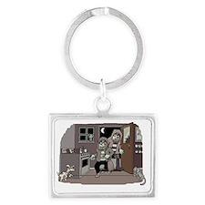 burglars1 Landscape Keychain