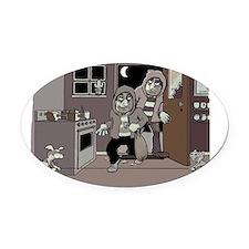 burglars1 Oval Car Magnet