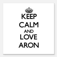 """Keep Calm and Love Aron Square Car Magnet 3"""" x 3"""""""