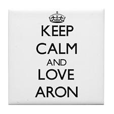 Keep Calm and Love Aron Tile Coaster