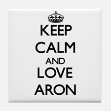 Keep Calm and Love Aron Tile Coaster