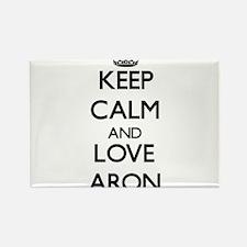 Keep Calm and Love Aron Magnets
