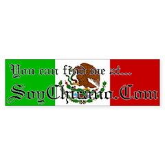Find me @ SoyChicano.com Bumper Bumper Sticker