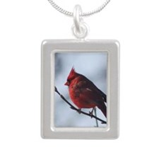 cardinaljournal Silver Portrait Necklace
