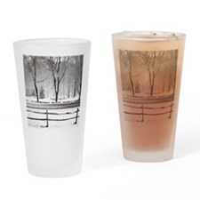 Winter Pond and Road Tote Drinking Glass