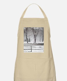 Winter Pond and Road Tote Apron