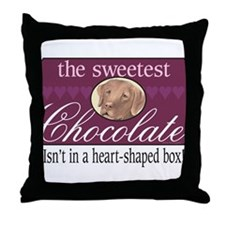 The sweetest chocolate! Throw Pillow
