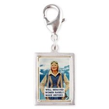 Well Behaved Women Silver Portrait Charm