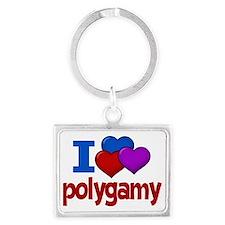 love polygamy Landscape Keychain