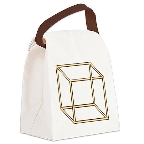 Necker cube Canvas Lunch Bag