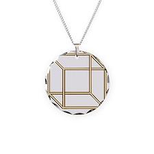 Necker cube Necklace