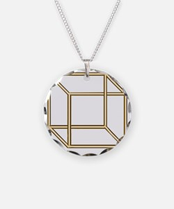 Necker cube Necklace