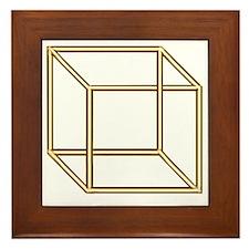 Necker cube Framed Tile