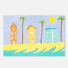 Beach Houses mug Postcards (Package of 8)