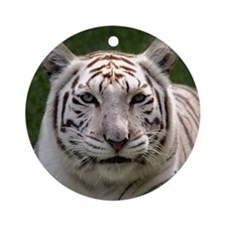 White Tiger 006 Round Ornament