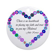 millefiori_heart Round Ornament