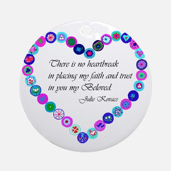 millefiori_heart Round Ornament