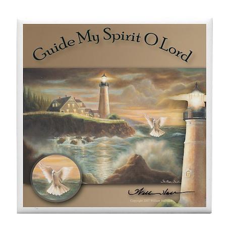 """Guide My Spirit O Lord"" Fine Art Tile Coaster"