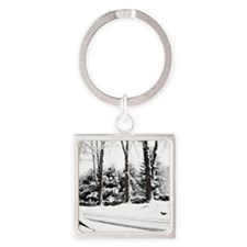 Winter Sentinels Note Cards Square Keychain