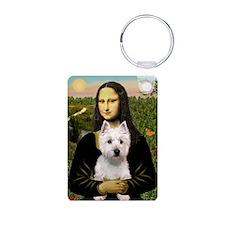 Mona's Westie (P) Keychains