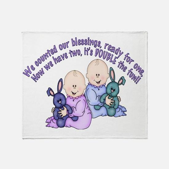 8 double the fun Throw Blanket
