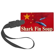 shark fin soup tee shirt 1 Luggage Tag