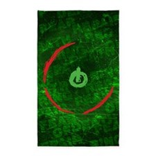 red ring of death poster 3'x5' Area Rug